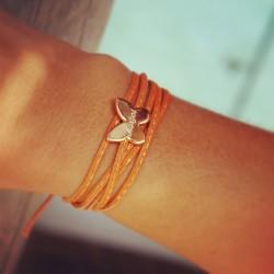 bracelet papillon personnalisé prénom