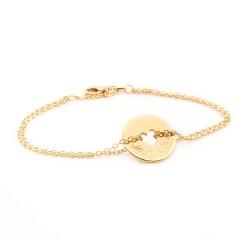 bracelet chaine coeur personnalisé plaqué or