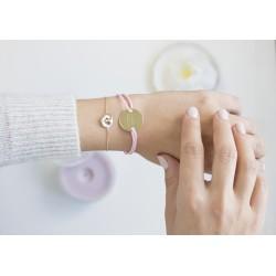 Bracelet anneaux enlacés - Argent