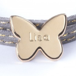 bracelet papillon gravé